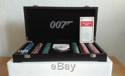 Rigid case of 300 tokens poker Luxury James Bond + cards 007 Luxury set 650260