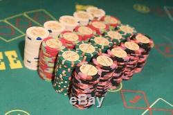 SET 400 X NATIVE LIGHT Paulson Clay Poker Chip Jeton Casino Token