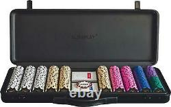 SLOWPLAY Nash 14 Gram Clay Poker Chips Set for Texas Holdem, 500PCS with a