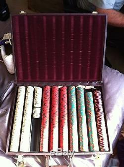 Savannah Lady Riverboat casino Poker Chip set chips live game leather case 4 $$