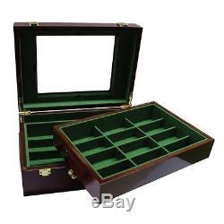 Scroll 10 gram Ceramic Poker Chip Set 500 with Customizable Wood Case