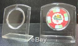 Set 5 Plastic Poker Collector Chips Display Holders with Air Tites Holds Chip