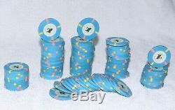 Set Of 100 Casino De Isthmus City Poker Chips $1 Blue Chips