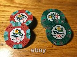 Set Of 600 Dunes Commemorative Poker Chips
