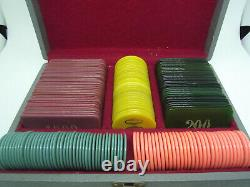 Set Vintage Galalith Boxed Poker Chips 1550g