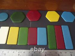 Set Vintage with 500 Galalith Boxed Poker Chips 1390g