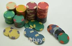 Set of 100 ASM Casino Style HHR Mold Clay Chips Various Spotted Edge Spots