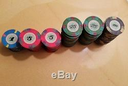 Set of 100 Casino De Isthmus City James Bond Chips $1 $5 $25 $100