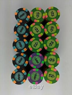 Set of 300 Minty Paulson Classics Poker Casino Chips GPI Rare in Excellent Cond