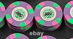 Set of 325 Casino De Isthmus 007 Paulson Top Hat & Cane Poker Chips