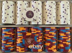Set of (500) Horseshoe Southern Indiana. Poker gaming chips Paulson Top Hat Cane