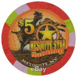 Set of 599 Mesquite Star Casino Mesquite NV $1, $5, $25, $100 Chips Paulson