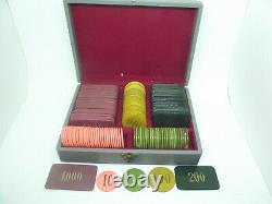 Set of Vintage Galalith Poker Chips 1536g