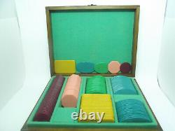 Set of Vintage Galalith Poker Chips 1853g