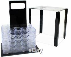 Showdown Poker Set 13.5g Clay Composite Chips with Acrylic Display Case 1,000 Ct