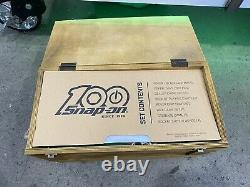 Snap On 100 Anniversary Game Chest Poker Set in Wooden Crate Cribbage Dice Game