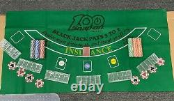 Snap-on Tools NEW RARE 100th Anniversary Poker Chips Chip Trays Cards Felt Set