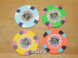 Super Rare 1981 Caesars Palace Grand Prix Set of 4 Poker Chips