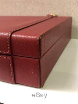 Super Rare Vintage Gucci Poker Card Set Dice Chips Luxury Game Red Leather Italy