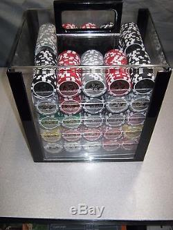 THE ULTIMATE POKER CHIP COMPLETE SET-1000 CHIPS-WithCARRY-CERAMIC-ELITE CHIPS
