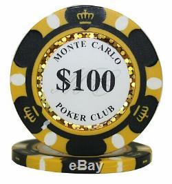 Texas Holdem Poker Chip Set Monte Carlo 1000ct 14g Bulk