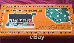 The Ultimate Poker Game Set 500 Piece 11.5 Gram 2 Color Chips with aluminum case