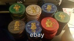 Tiki Kings Poker Chips 300 Piece Set BRAND NEW