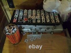 Tournament & Cash Game 14g Pro Poker Chip Sets in 2x Aluminum Case's