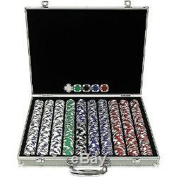 Trademark Poker 1000 11.5 Gram Holdem Poker Chip Set with Aluminum Case Multi