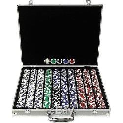 Trademark Poker 1000 Holdem Poker Chip Set with Aluminum Case 11.5gm