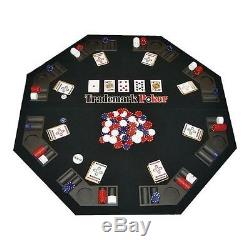 Trademark Poker Texas Traveller Table Top & Chip Travel Set, Free Shipping, New