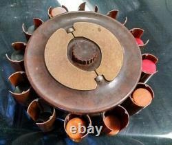 Turnit Poker Chip Rack Caddy & Card Holder Brown Marbled Vintage Bakelite Chips