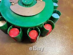 Turnit Poker Chip Rack, Caddy & Card Holder, Green Marbled Vintage Bakelite