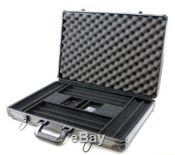 Versa Games 1000pc Deluxe Poker Chip Case in Gray Color