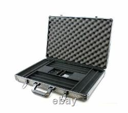 Versa Games 1000pc Deluxe Poker Chip Case in Gray Color Reinforced, Strong