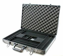 Versa Games 1000pc Deluxe Poker Chip Case in Gray Color Reinforced, Strong, St