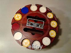 Vintage 1920's Art Deco Poker Chip Set