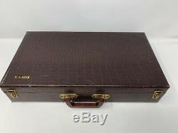 Vintage 500+ Bakelite Catalin Poker Chip Set With Case & Trays