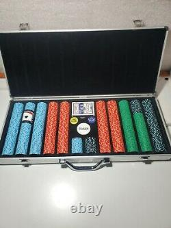 Vintage 680 POKER CHIP SET 12.5 Grams. Coin Inlayed Chips. From a Gambling Boat