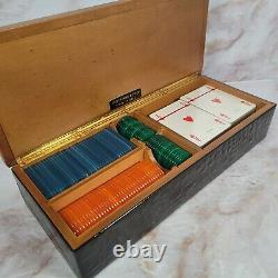 Vintage Abercrombie & Fitch Made in Italy Poker Baccarat Set withbakelite chips