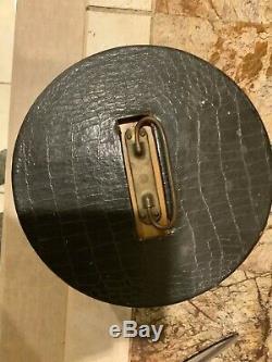 Vintage Bakelite Poker Chip Set Wood Case 94 Butterscotch/60 Red and 61 Black