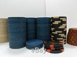 Vintage Casino Chips 866 Real Clay Flower Mold Poker Tiny Hotstamp Antique