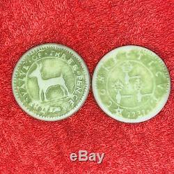 Vintage Colonial Poker Chip Set Continental Dollar Higley Oak Tree Shilling