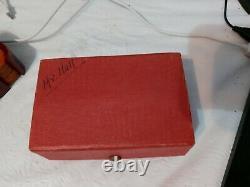 Vintage Dubonnet Bakelite Poker Chip Set 112 Chips Bakelite Case Original Box