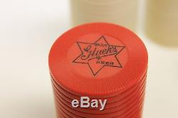 Vintage Glueks Beer Poker Chip Set 1940s, Brewery, Minneapolis