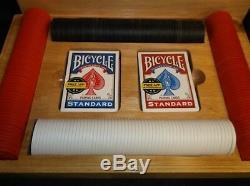 Vintage Marlboro poker set wooden box used