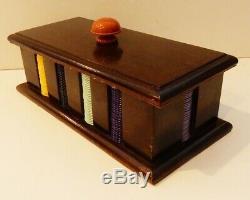 Vintage Multicolor Bakelite 300 Game Counter / Poker Chip Set in Case