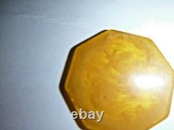 Vintage Octagonal Amber Red And Blue Bakelite Poker Chip Set 192 Piece