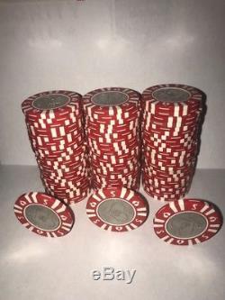 Vintage Old Sahara Casino Las Vegas $5 Dollar Poker Chip Set 75 Pieces
