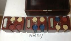 Vintage Pattberg Poker Chip (276 pc) Game Set withMahogany Box & 3 Removable Trays